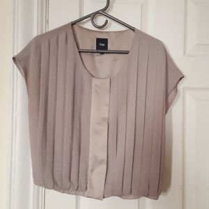 GAP silver pleated blouse